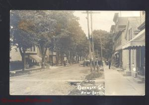RPPC NEW BERLIN NEW YORK DOWNTOWN GENESEE STREET SCENE REAL
