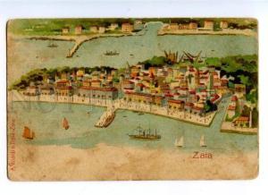 174105 CROATIA ZARA Zadar view Vintage litho postcard
