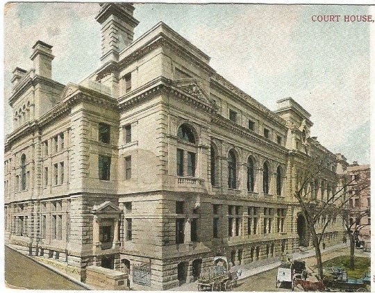 Boston Court House 1906 - 1907 Vintage Undivided Back Postcard Historical Site