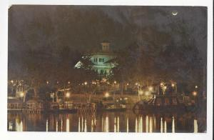 Disneyland Haunted Mansion at Night Vtg 1971 Postcard CA