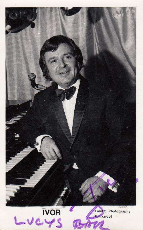 Ivor Blackpool Organ Entertainer Antique Hand Signed Photo