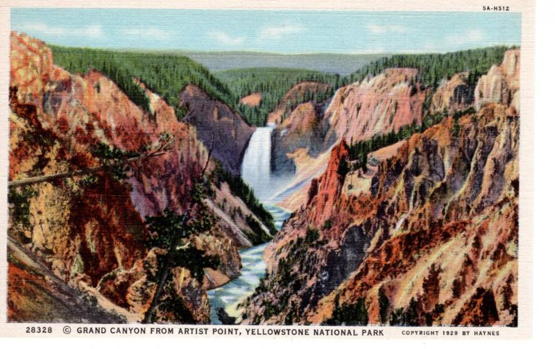 YELLOWSTONE NATIONAL PARK Haynes Linen Series.  28328.
