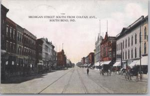 South Bend, Ind., Michigan Street from Colfax Ave. - 1908