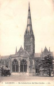 Salisbury United Kingdom, Great Britain, England The Cathedral from the Palac...