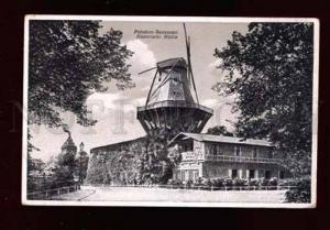 015171 WINDMILL in Potsdam Germany Vintage PC