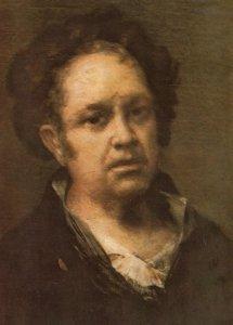 Francisco De Goya Self Portrait Madrid Museo Del Padro Painting Postcard