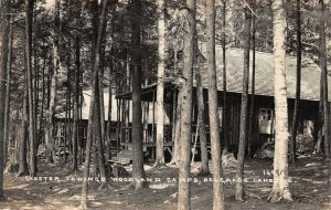 LPS04 Belgrade Maine Chester Thwing's Woodland Camp Postcard RPPC