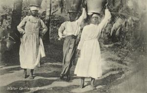Dominica, W.I., Native Water Carriers (1910s)