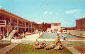 ELDORADO Gulf Boulevard ST. PETERSBURG, FL 1959 guests poolside