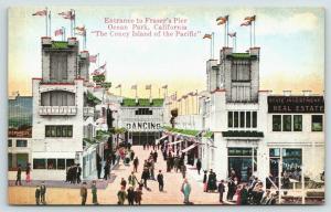 Ocean Park CA~Fraser's Pier~Dancing~Real Estate Office~R.E. Fennelly Prop~1910