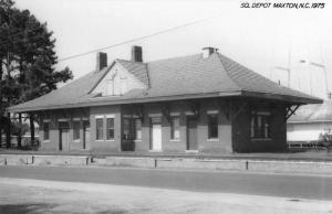 Maxton North Carolina SCL Railroad Depot Real Photo Vintage Postcard K105819