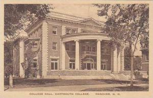 New Hampshire Hanover College Hall Dartmouth College Albertype