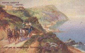Military Transport at Royal Castle Hotel Linton Devon Postcard
