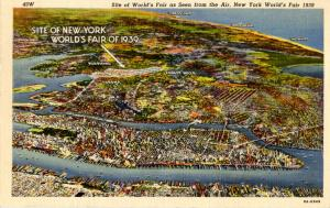 NY - New York World's Fair, 1939. Aerial View of Site