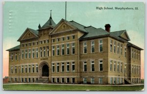 Murphysboro Illinois~High School~Corner View Showing Front & Side Entrance~1913