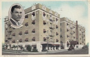LOS ANGELES , California , 1900-10s ; Hotel Barbara, Inset, Jack Dempsey