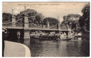 Boston, Massachusetts, Bridge And Lake In Public Garden