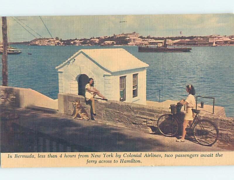 Pre-Chrome WATER SCENE Hamilton Bermuda Carribean AH5559