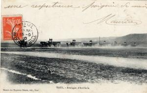 France WW1 Toul Attelages d'Artillerie 01.37