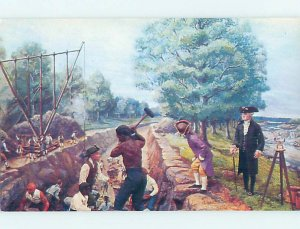 Chrome POSTCARD OF PAINTING AT MUSEUM Wilmington Delaware DE AG0378