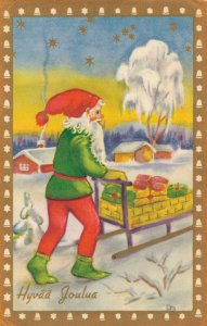 Merry Christmas Vintage Santa Claus Vintage Postcard Santa´s Helper 03.09