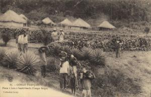 CPA Francais Congo Afrique - Poste á bois á Sandybeach (86550)