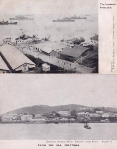 Sierra Leone Freetown From The Sea Harbour 2x Africa Old Postcard s