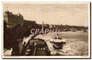 Old Postcard Great Britain london London Victoria Embankment