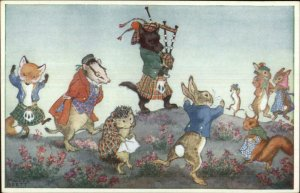 Fantasy Dressed Animals Scottish Terrier Dog Playing Bagpipes Molly Brett PC