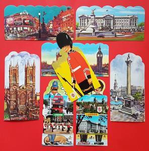 21 London Postcards England UK City View Street Travel Landscape Postcards