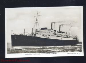 RPPC CANADIAN PACIFIC STEAMSHIP SS DUCHESS OF BEDFORD REAL PHOTO POSTCARD SHIP