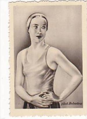 GARBATI CIGARETTE CARD FAMOUS DANCERS NO 159 LISA CZOBEL