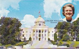 Alabama Governor Lurleen Wallace And State Capitol Building Montgomery
