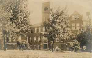 College Building page 1908 Shenandoah Iowa RPPC real photo postcard 8020