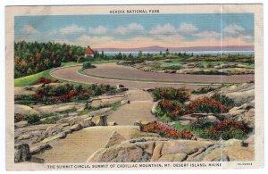 Mt. Desert Island, Maine, The Summit Circle, Summit Of Cadillac Mountain