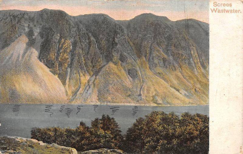 Screes Wastwater Lake Mountain Landscape 1914