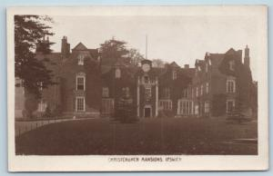 Postcard UK Ipswich Christchurch Mansions RPPC Harold H Camburn Real Photo M07