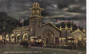 ONTARIO BEACH PARK, New York, PU-1912; Night Scene at Japan Bazaar
