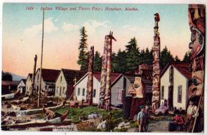 Indian Village & Totem Poles, Howkan Alaska