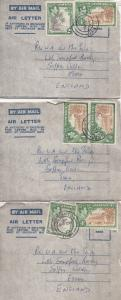 Mona Jamaica To England 3x West Indies College Letter Cover s