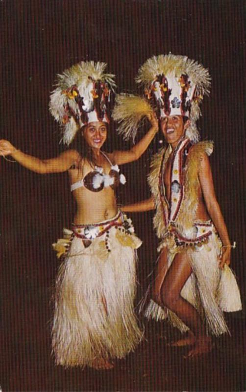 Tahitit Beautiful Dance Costumes Of The Group Heiva