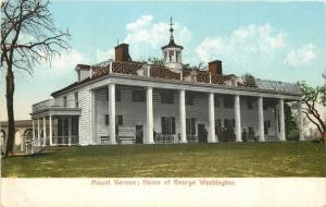 Mt Vernon Virginia~George Washington Home~1908 Postcard