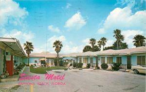 Daytona Beach Florida~Siesta Apartment Motel~Coca-Cola Pop Machine~1965 Postcard
