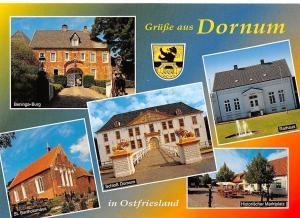 Gruesse aus Dornum, Beninga-Burg, St. Bartholomaeus, Schloss Dornum Rathaus