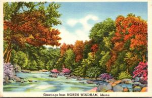 Maine Greetings From North Windham 1940
