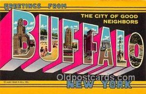 Greeting From Buffalo New York, USA Unused