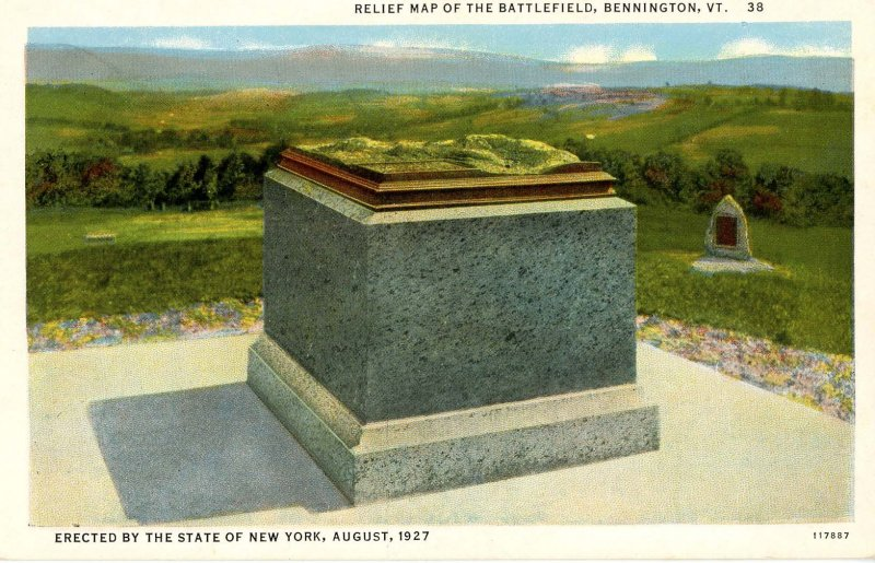 VT - Bennington. Relief Map of the Battle of Bennington
