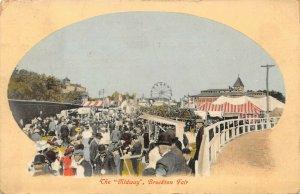 LP05   Brockton Massachusetts Postcard  Fair Midway