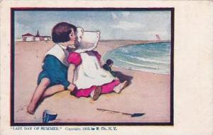 Sunbonnet Girl Last Day Of Summer 1908