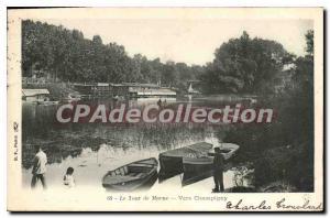Old Postcard Champigny Le Tour De Marne Around Champigny